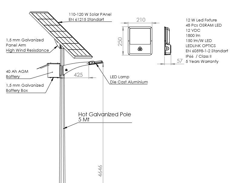 solar lamba aydınlatma