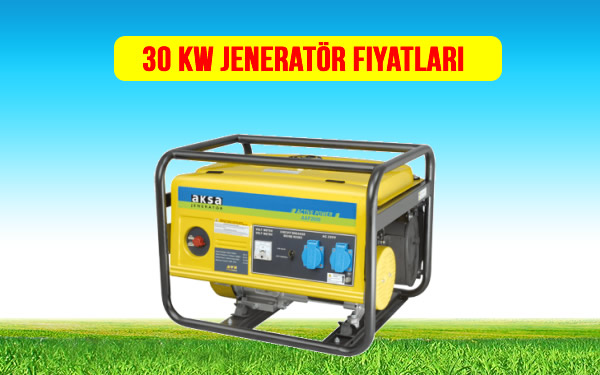 30 kw jeneratör fiyat