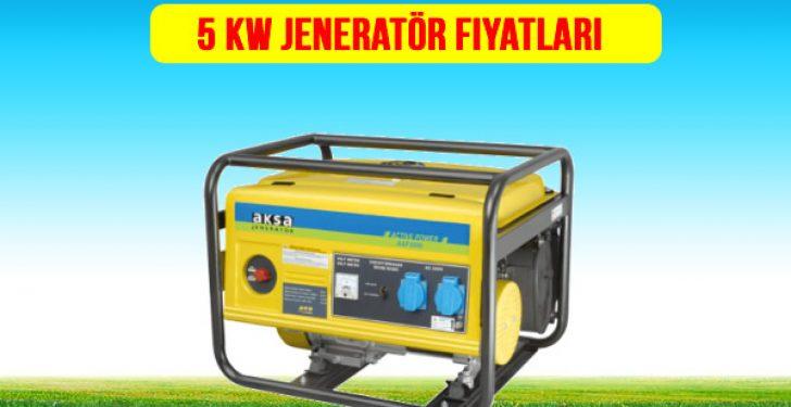 5 kw jeneratör fiyatları