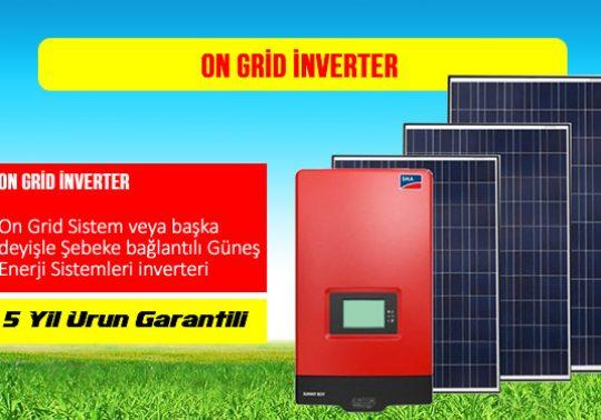 On Grid İnverter Fiyatları,on grid inverter nedir,on grid sistem fiyatları,Şebeke Bağlantılı On-Grid inverter