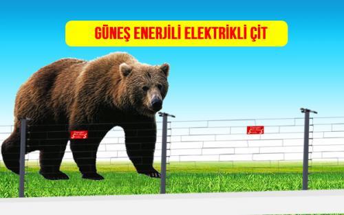 güneş enerjili elektrikli tel çit ayı kovucu domuz savar