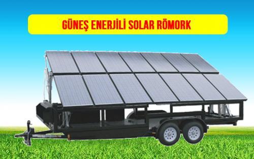 mobile SOLAR power güneş enerjili römork