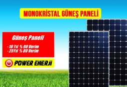 Monokristal Güneş Paneli özellikleri ve fiyatı
