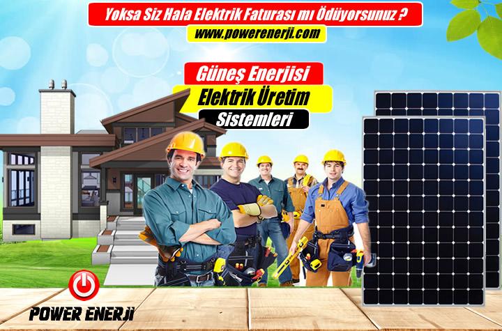 evler için güneş enerjisi elektrik üretimi fiyatı