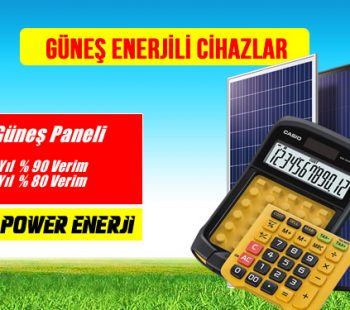 güneş enerjili cihazlar