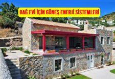 Bağ evi güneş enerjisi solar paneli fiyatları