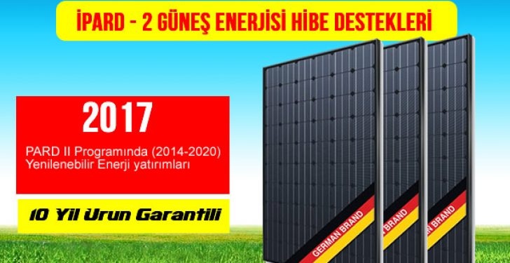 IPARD--2 ipard-2 güneş enerjisi 2017 hibe