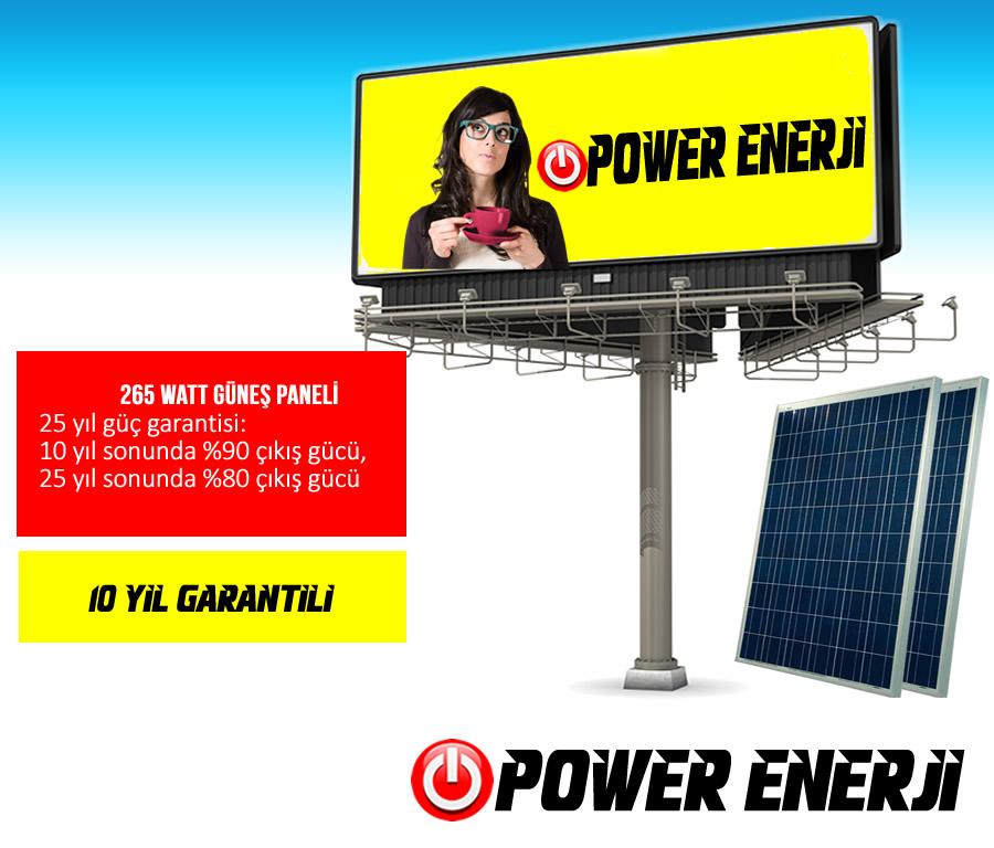 güneş enerjili totem reklam tabela aydınlatma