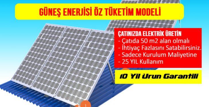 güneş enerjisi öz tüketim modeli nedir