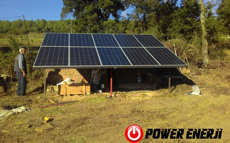 dalgıç pompa güneş enerjili sulama sistemi