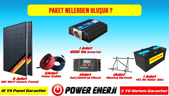 300 WATT Güneş enerjisi paketleri fiyatları güneş paneli inverter solar akü kurulumu