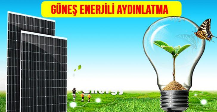 güneş enerjili aydınlatma fiyatları
