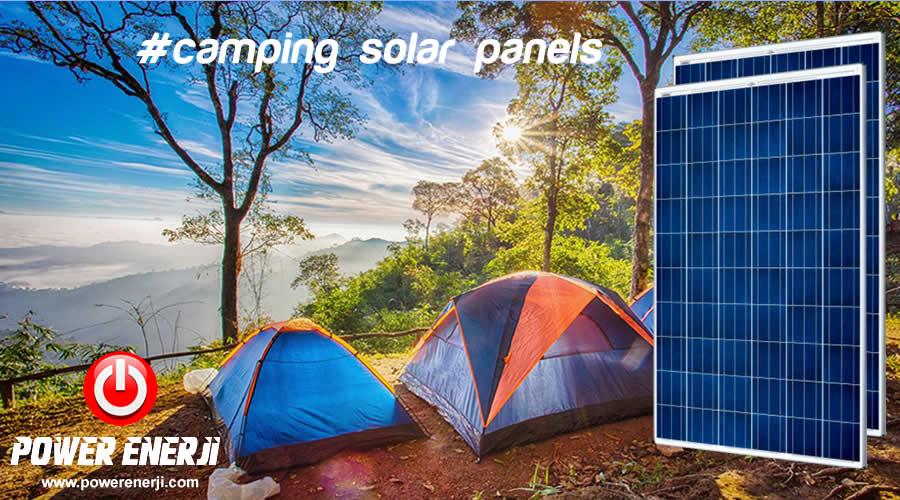 kamp güneş paneli