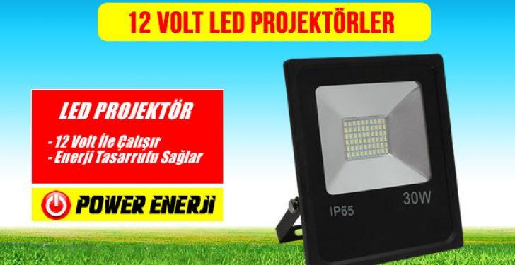 12 volt led projektör fiyatları 10,20,30,40,50,75,100,150,250, watt
