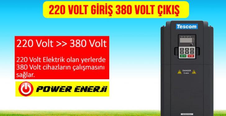 220 volt 380 volt inverter dönüştürücü fiyatları