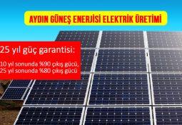 Aydın güneş enerjisi elektrik üretim firmaları