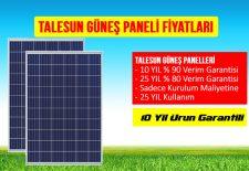 Bu yazıda 260 watt talesun güneş paneli fiyatları, 265 watt talesun güneş paneli fiyatları, 270 watt talesun güneş paneli fiyatları,275 watt talesun güneş paneli fiyatları hakkında olacaktır.