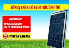 güneş paneli ile güneş enerjisi elektrik üretimi