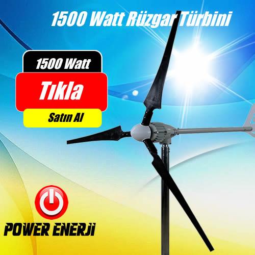 1000 Watt (1 kw) 24 Volt Rüzgar Türbini Fiyatları