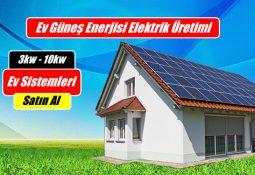 Evler için çatı üstü Güneş Paneli ile Güneş Enerjisi