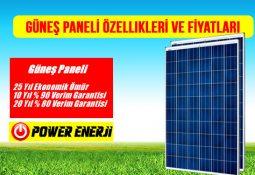 güneş paneli özellikleri ve güneş paneli fiyatları