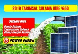 Tarımsal Sulama Hibe Desteği 2019 Yılında Yüzde