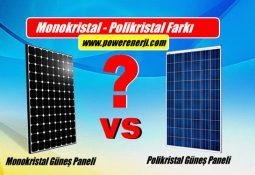 monokristal güneş paneli polikristal farkı özellikleri fiyatları