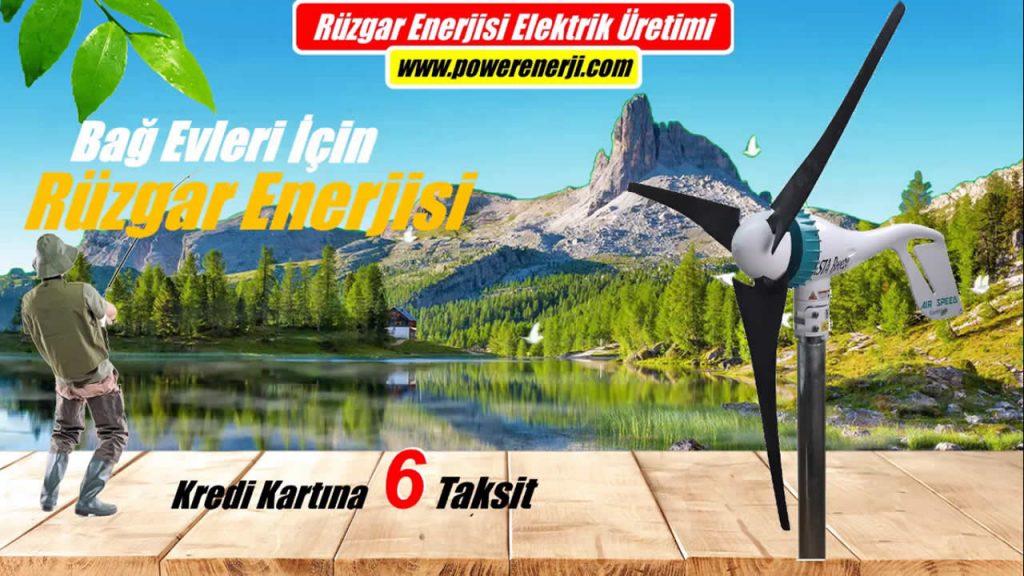 Bağ Evleri İçin Rüzgar Türbini Elektrik Üretimi Fiyatı POWER ENERJİ