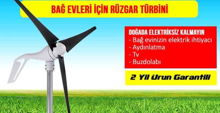 Bağ Evleri için Rüzgar Türbini ile Rüzgar Enerjisi Elektrik Üretimi