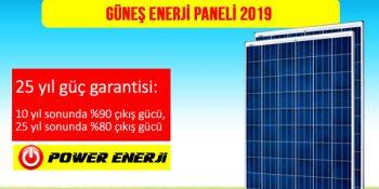 Güneş Enerji Paneli Fiyatları 2019
