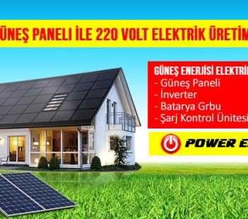 Güneş Paneli Kurulumu fiyatı 12 Volt, 24 Volt, 48 Volt 220 Volta Nasıl Çevrilir