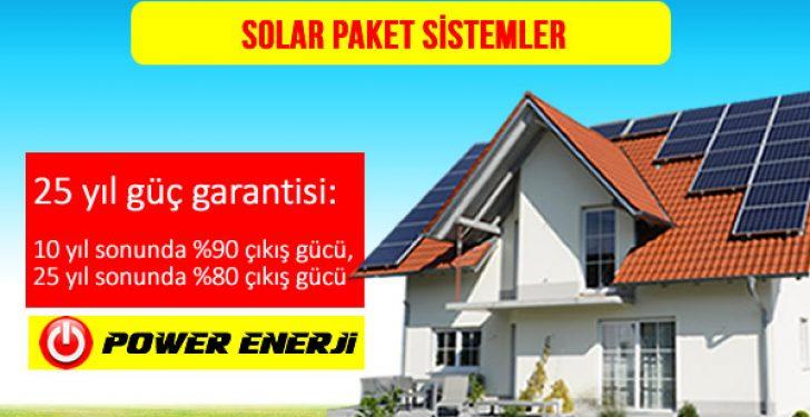 Solar Paket Güneş Enerjisi Elektrik Üretim Sistemleri Fiyatları