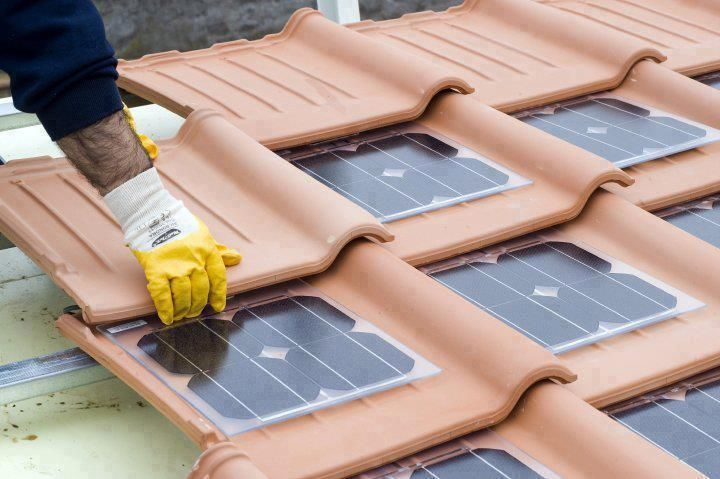 solar güneş paneli kiremit elektrik üretimi