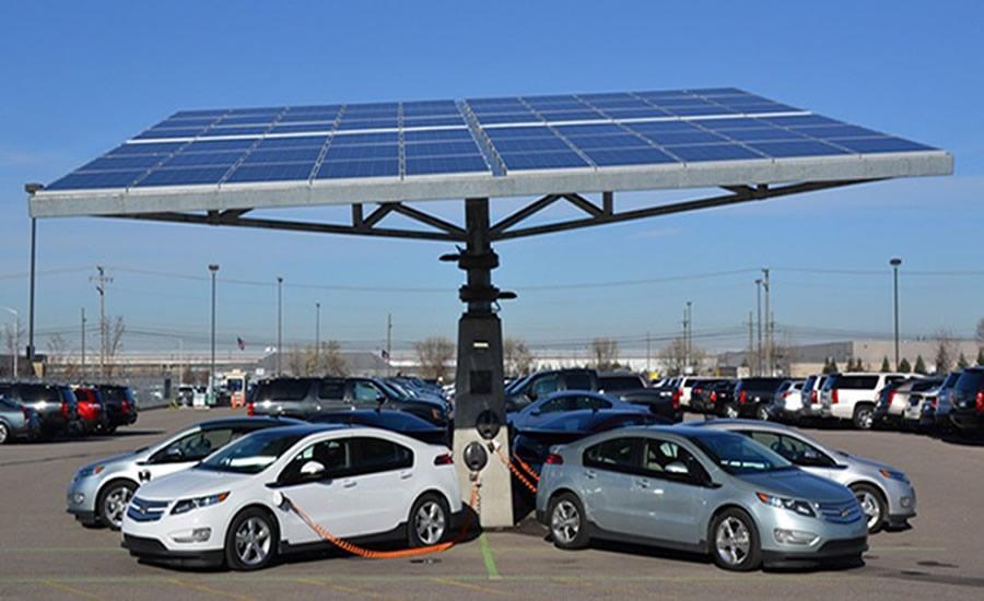 elektikli araba şarj istasyonu guneş enerjisi solar kurulumu
