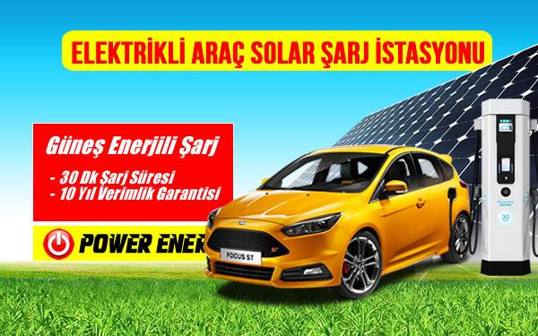 güneş enerjili elektrikli araç şarj istasyonu kurulumu