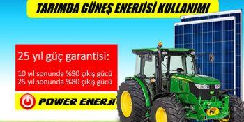 Tarımda güneş enerjisi paneli kullanım alanları nelerdir?