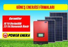Güneş Enerjisi ile Elektrik Üretimi Yapan Firmalar