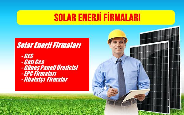 Solar Enerji Firmaları