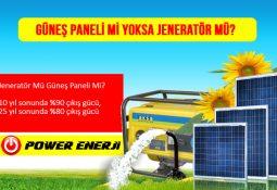 Tarımsal Sulamada jenaratör kullanmak mı yoksa güneş paneli ile güneş enerjili sulama sistemi kurmak mı karlı? avantajları ve dez avantajları