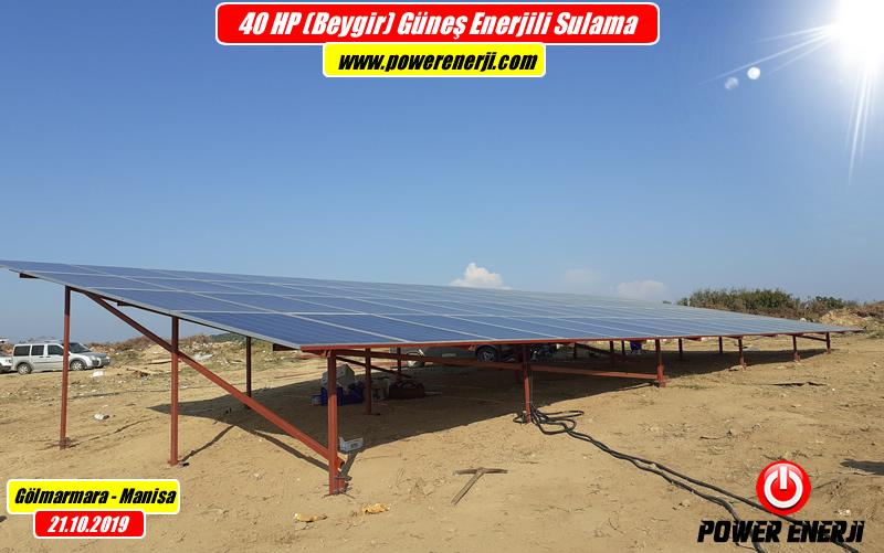 40hp pompa güneş paneli enerjili sulama sistemi www.powerenerji.com
