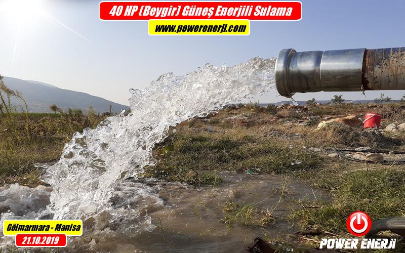 40hp pompa solar güneş enerjili sulama sistemi www.powerenerji.com