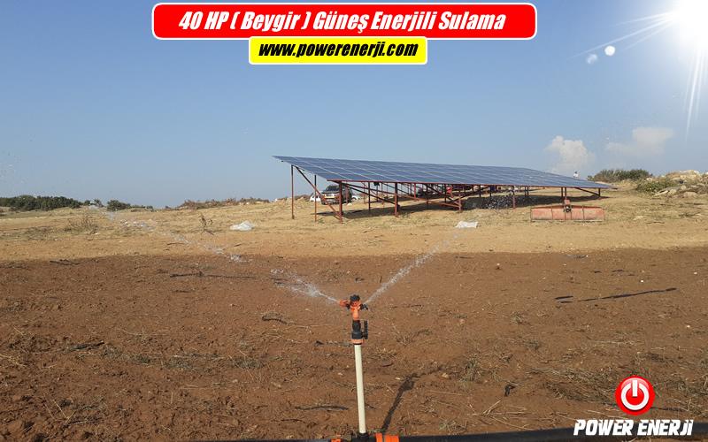 güneş paneli ile sulama