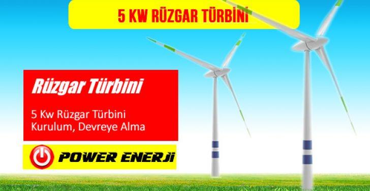 5 kw rüzgar türbini fiyatı