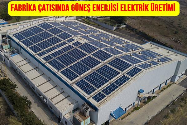 Fabrika Solar Panel Enerji Üretimi