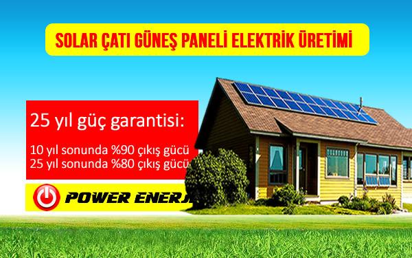 solar çatı güneş paneli elektrik üretimi