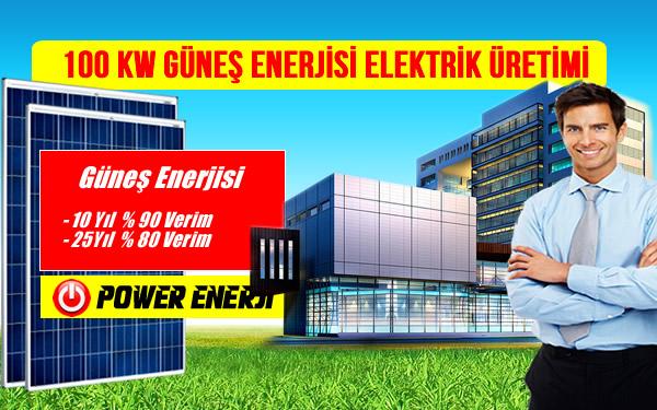 100 kw güneş enerjisi elektrik üretimi maliyeti