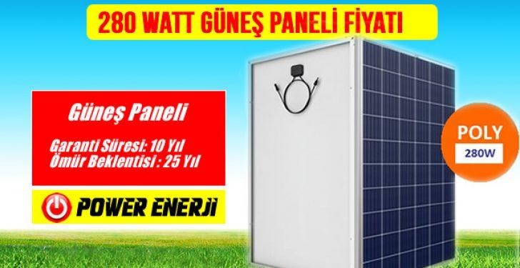 280watt Solar Güneş Paneli Fiyatı