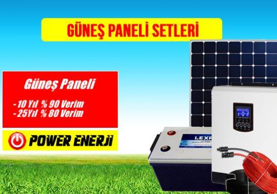 güneş paneli setleri