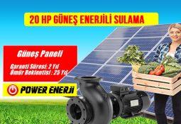 20 Hp Sulama Pompası Güneş Paneli (20 Hp Beygir 15kw 380volt Trifaze)