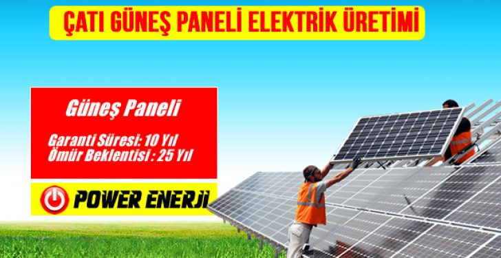 catı güneş paneli elektrik üretimi